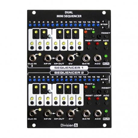 ซื้อ Division 6 Dual Mini Sequencer (Black, Pre Assembled, 18hp) ออนไลน์