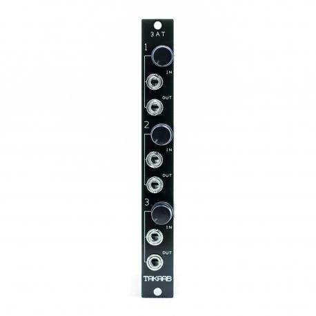 ซื้อ TAKAAB 3AT - Three Passive Attenuators Eurorack Synthesizer Module (Black, Pre Assembled, 3hp) ออนไลน์