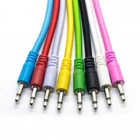 ซื้อ 3 x 60cm Nylon Braided Eurorack Patch Cables, 3.5mm mono (White, N/A) ออนไลน์